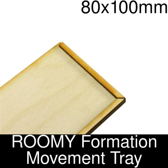 Formation Movement Tray: 80x100mm ROOMY Tray Kit - LITKO Game Accessories