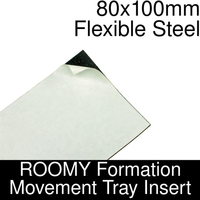 Formation Movement Tray: 80x100mm Flexible Steel Insert for ROOMY Tray - LITKO Game Accessories
