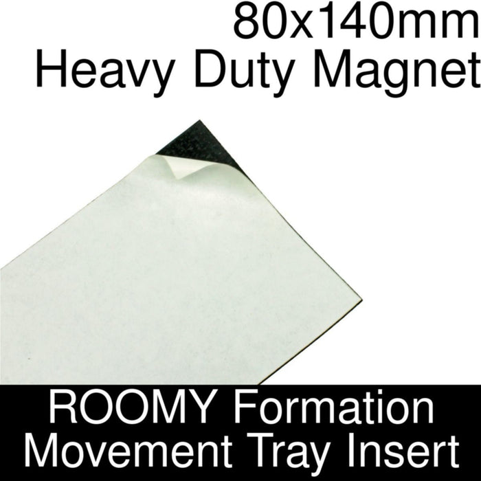 Formation Movement Tray: 80x140mm Heavy Duty Magnet Insert for ROOMY Tray - LITKO Game Accessories