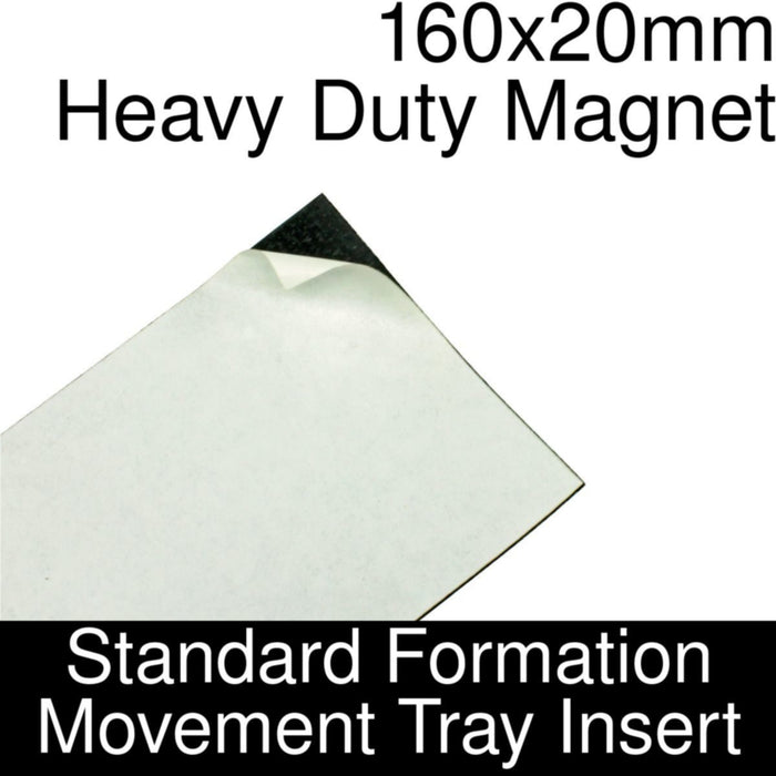 Formation Movement Tray: 160x20mm Heavy Duty Magnet Insert for Standard Tray - LITKO Game Accessories