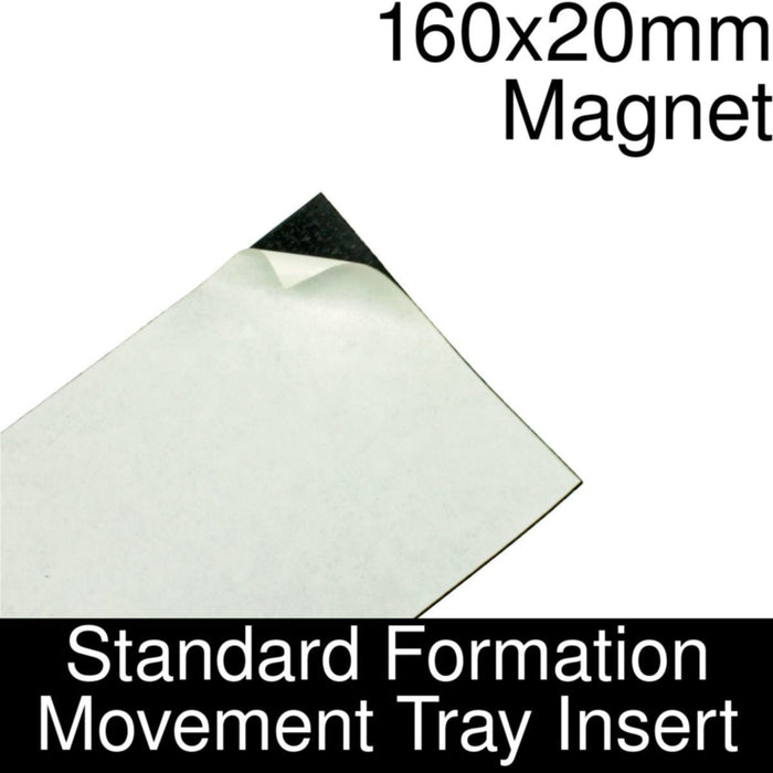 Formation Movement Tray: 160x20mm Magnet Insert for Standard Tray - LITKO Game Accessories