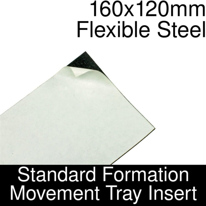 Formation Movement Tray: 160x120mm Flexible Steel Insert for Standard Tray - LITKO Game Accessories