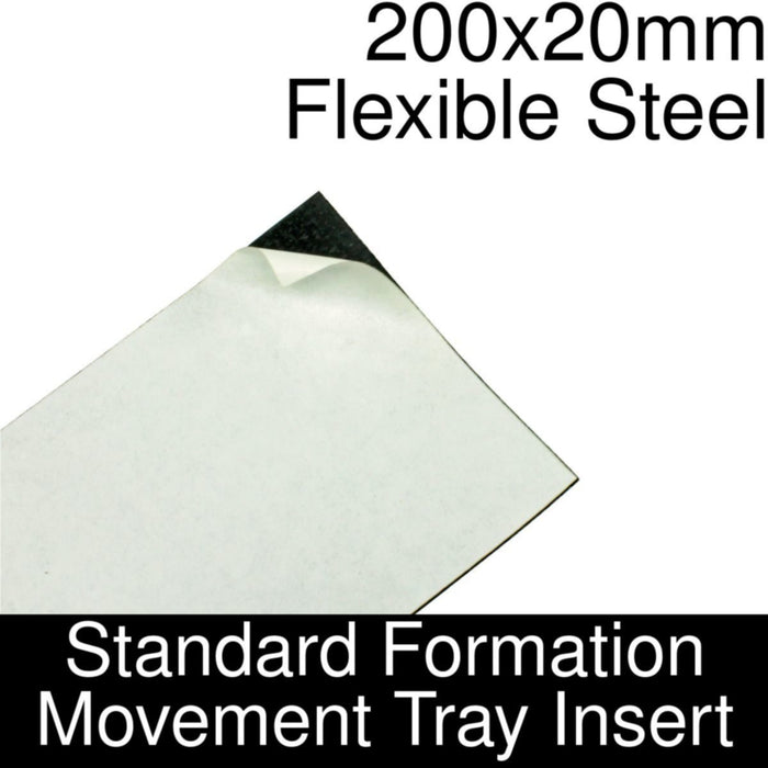Formation Movement Tray: 200x20mm Flexible Steel Insert for Standard Tray - LITKO Game Accessories