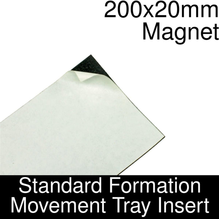 Formation Movement Tray: 200x20mm Magnet Insert for Standard Tray - LITKO Game Accessories
