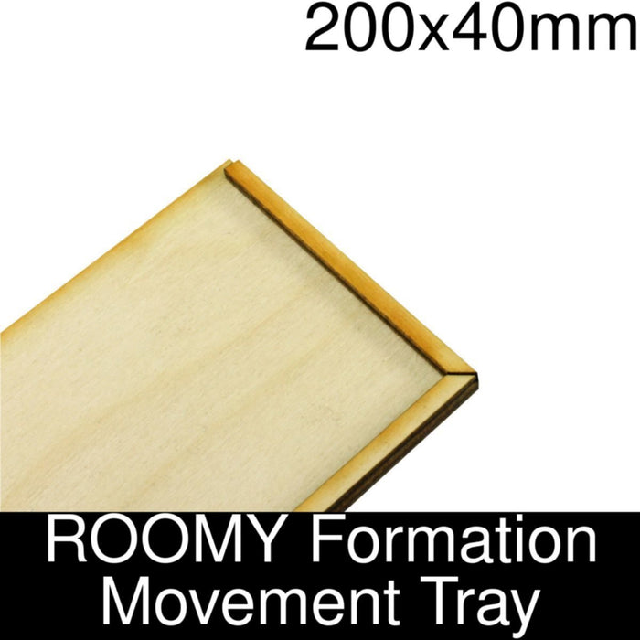 Formation Movement Tray: 200x40mm ROOMY Tray Kit - LITKO Game Accessories
