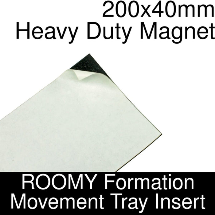 Formation Movement Tray: 200x40mm Heavy Duty Magnet Insert for ROOMY Tray - LITKO Game Accessories