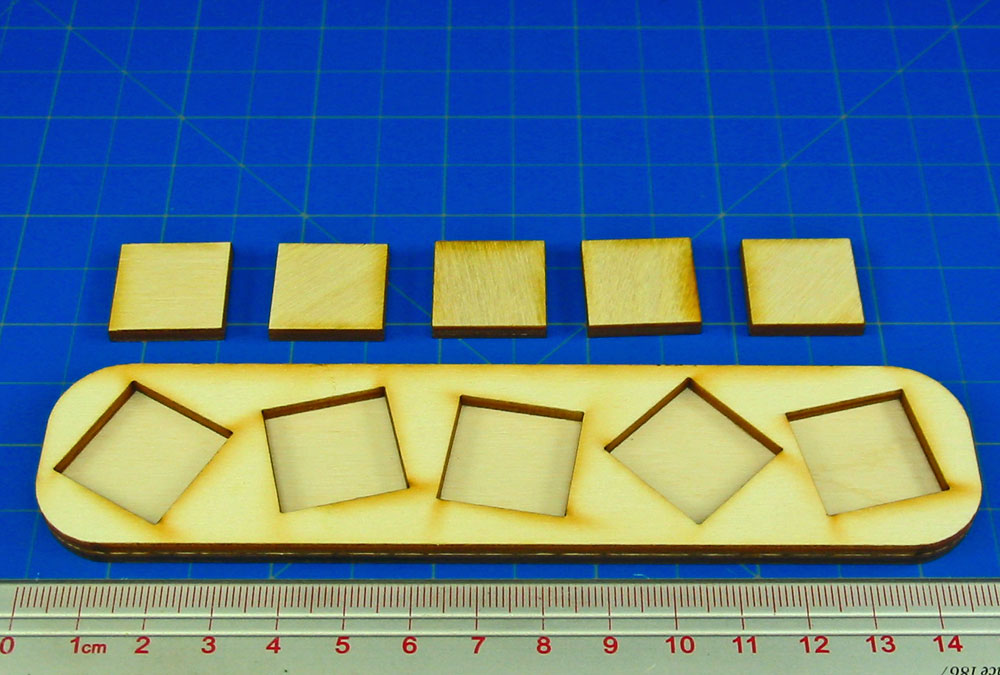 5x1 Formation 20mm Square Base Skirmish Tray - LITKO Game Accessories