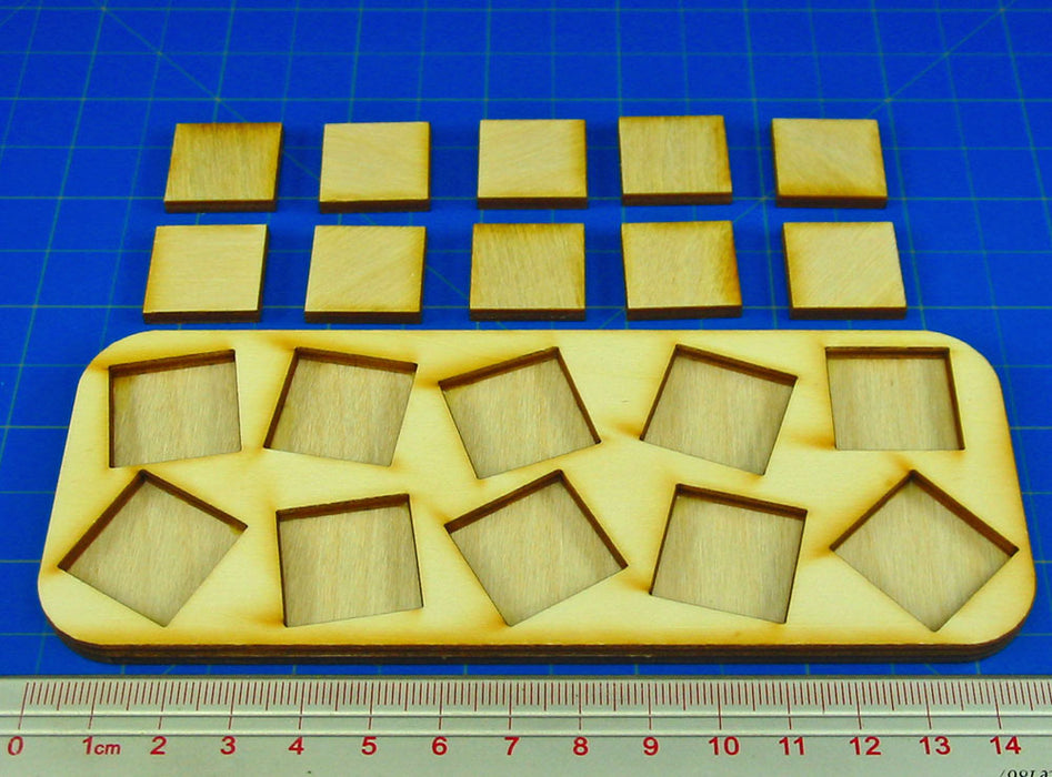5x2 Formation 20mm Square Base Skirmish Tray - LITKO Game Accessories