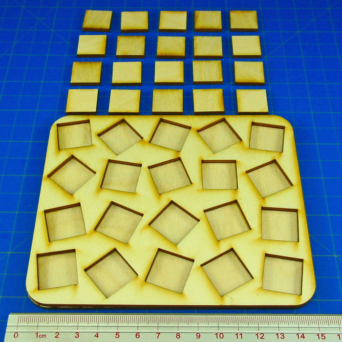 5x4 Formation 20mm Square Base Skirmish Tray - LITKO Game Accessories