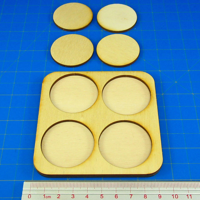 2x2 Formation 40mm Circle Base Skirmish Tray - LITKO Game Accessories