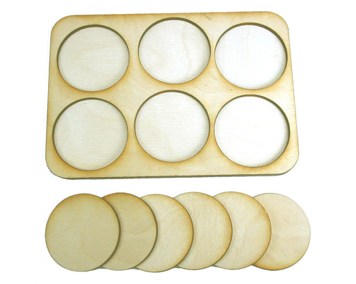 3x2 Formation Skirmish Tray for 40mm Circle Bases - LITKO Game Accessories