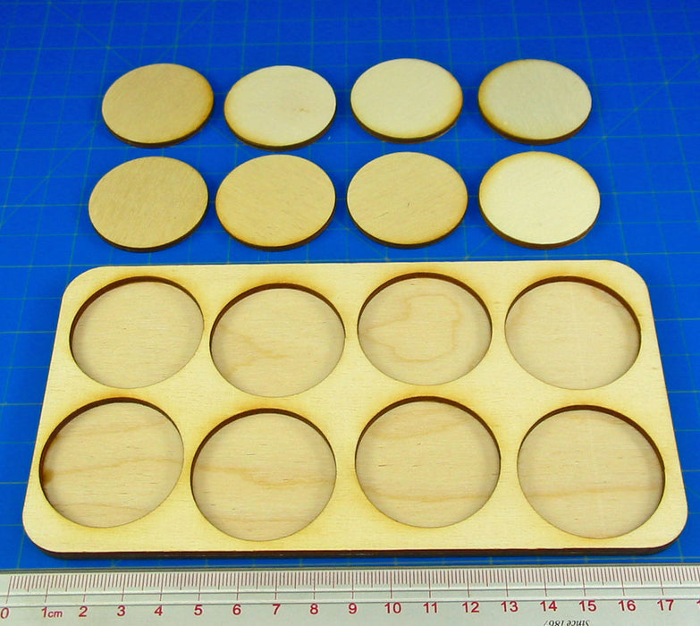 4x2 Formation 40mm Circle Base Skirmish Tray - LITKO Game Accessories