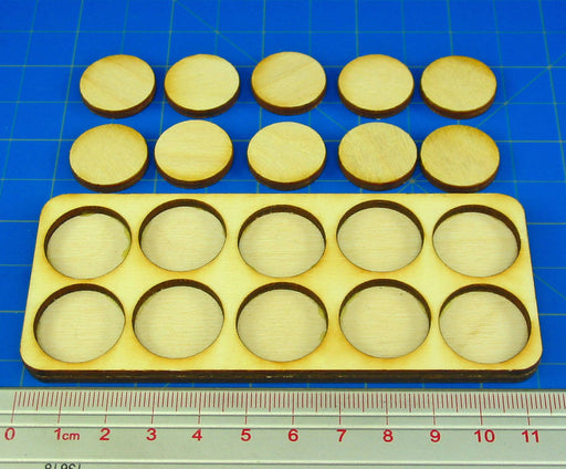 5x2 Formation Skirmish Tray for 20mm Circle Bases - LITKO Game Accessories