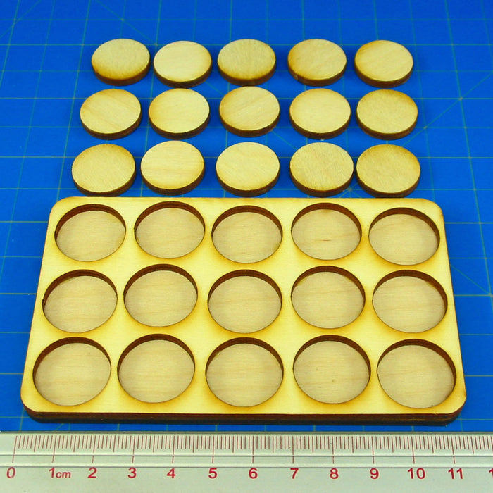 5x3 Formation 20mm Circle Base Skirmish Tray - LITKO Game Accessories