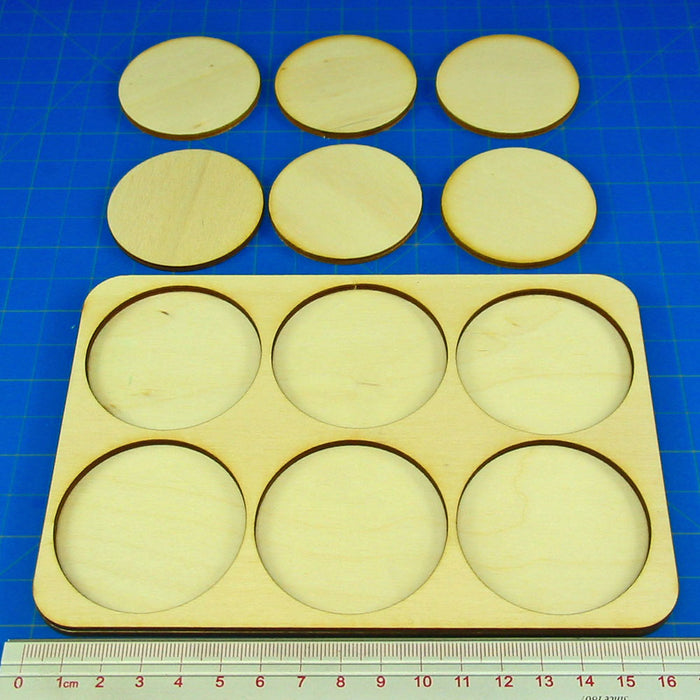 3x2 Formation 50mm Circle Base Skirmish Tray - LITKO Game Accessories