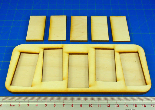 5x1 Formation Skirmish Tray for 25x50mm Rectangular Bases - LITKO Game Accessories