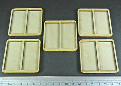 Formation Tray for 25x50mm Retangular Bases (5) - LITKO Game Accessories