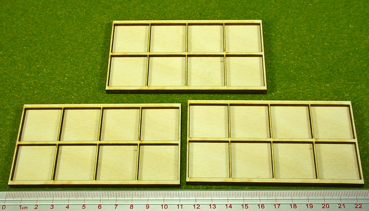 25mm Square Ring War Infantry Tray (3) - LITKO Game Accessories