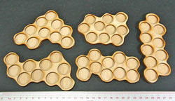 10-Figure 20mm Circle Horde Tray Set (5) - LITKO Game Accessories