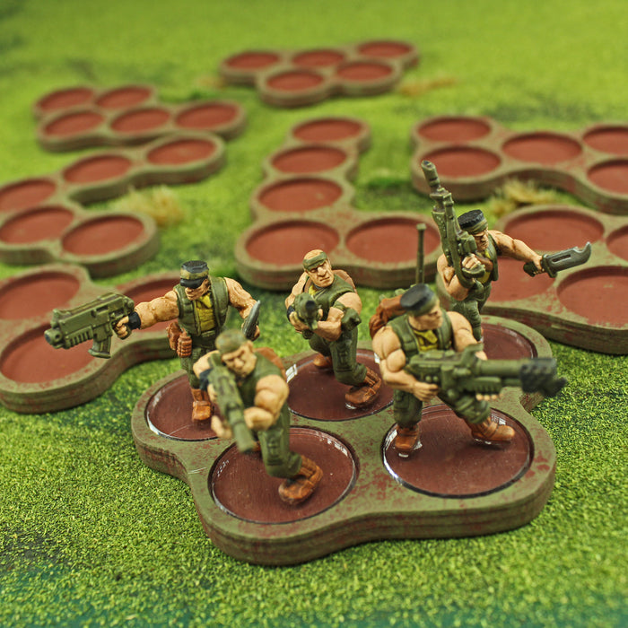 5-Figure 25mm Circle Horde Tray Set (8) - LITKO Game Accessories