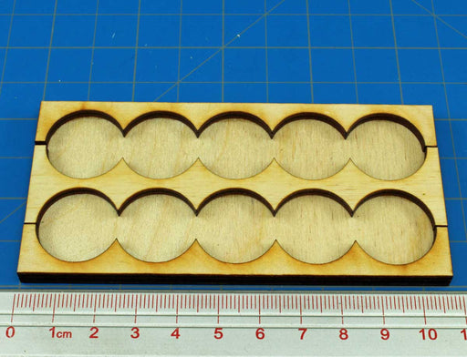 5x2 Formation Rank Tray for 20mm Circle Bases - LITKO Game Accessories