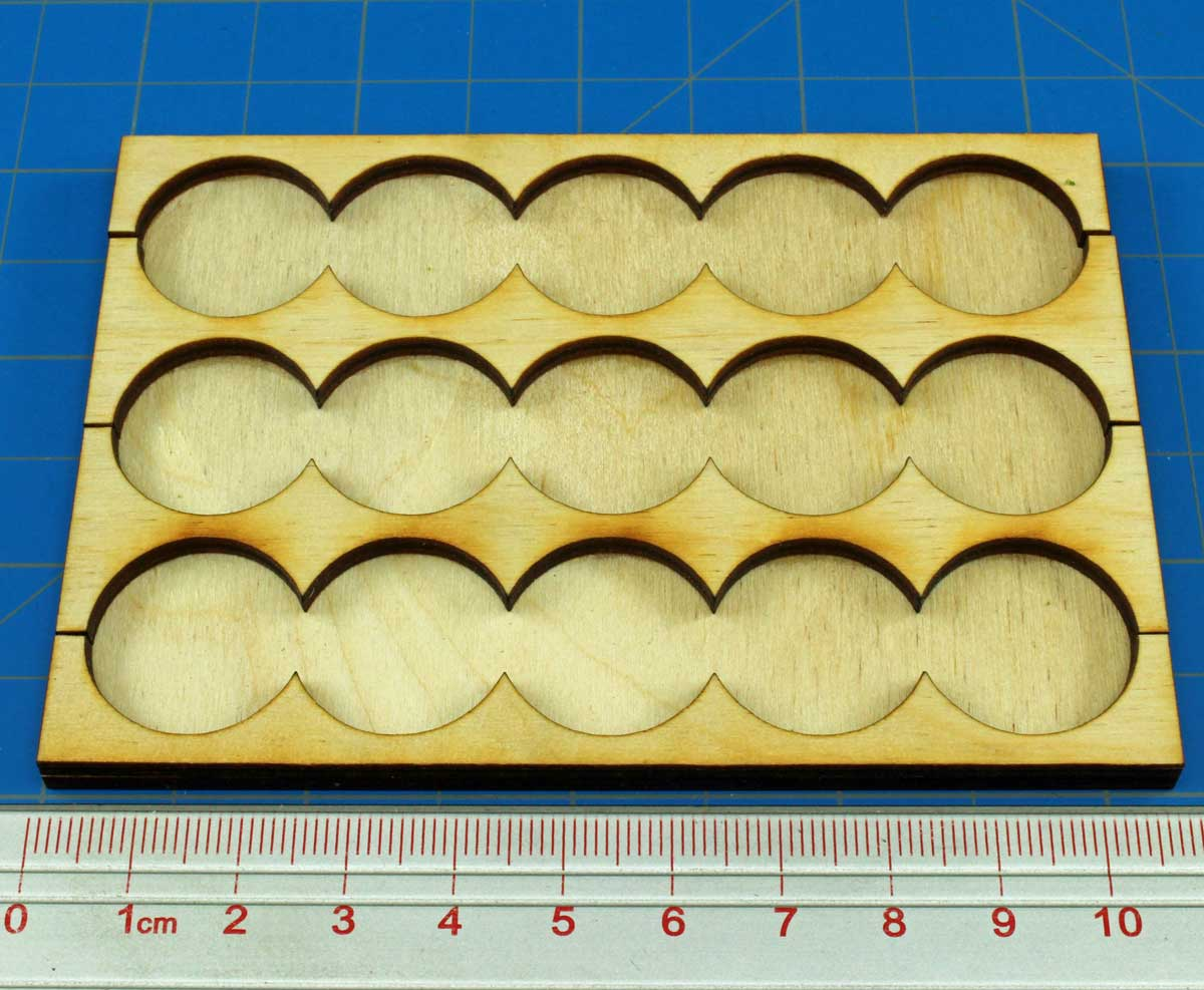 5x3 Formation Rank Tray for 20mm Circle Bases - LITKO Game Accessories