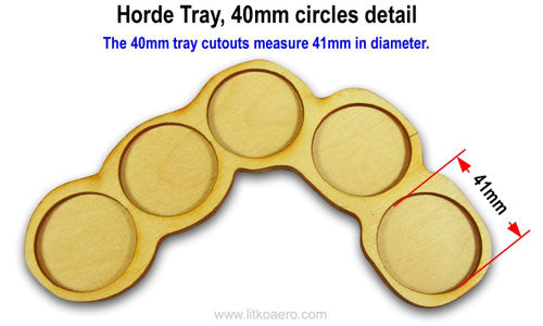 5-Figure 40mm Circle Horde Tray Set (3) - LITKO Game Accessories