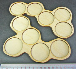 5-Figure 50mm Circle Horde Tray Set (2) - LITKO Game Accessories