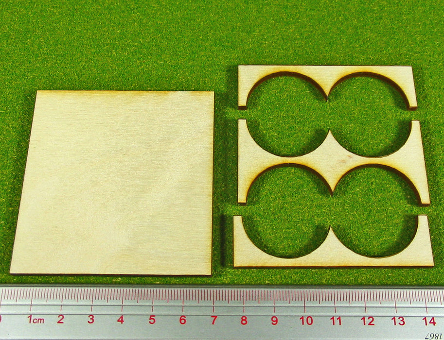 2x2 Formation 30mm Circle Base Rank Tray - LITKO Game Accessories