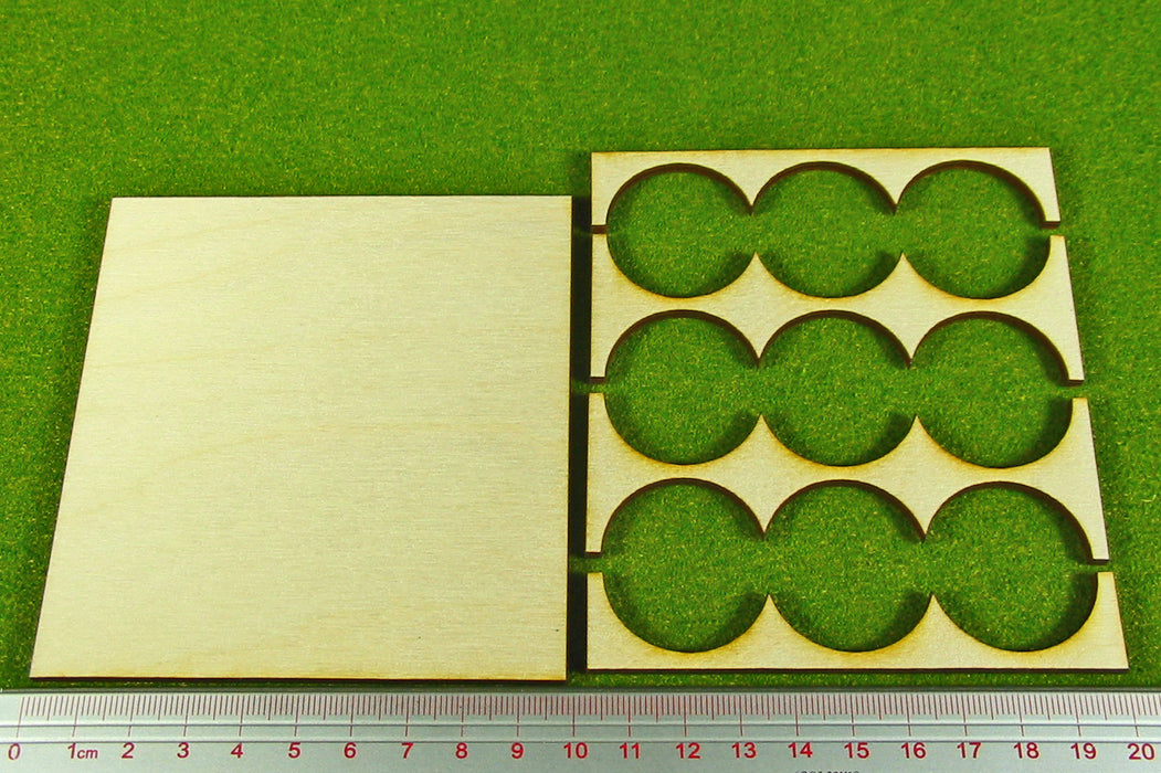 3x3 Formation 30mm Circle Base Rank Tray - LITKO Game Accessories