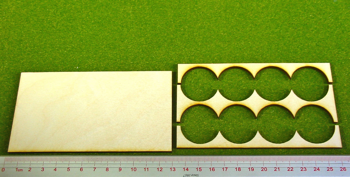 4x2 Formation 30mm Circle Base Rank Tray - LITKO Game Accessories