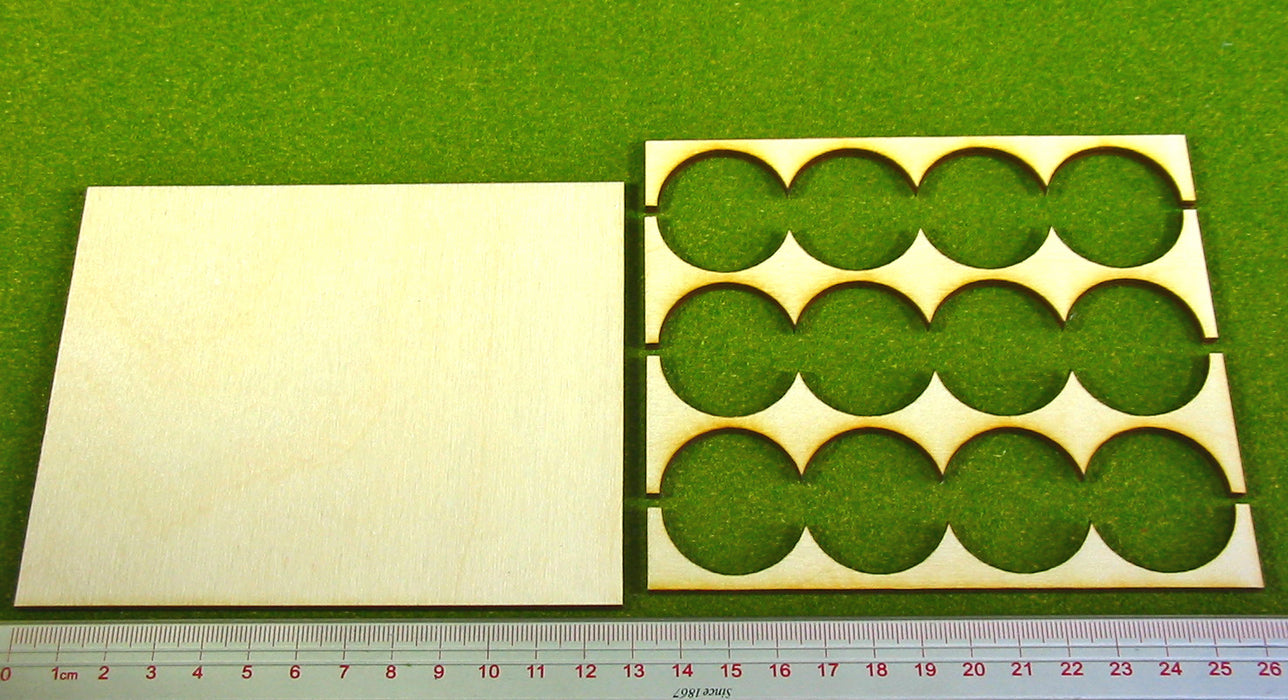 4x3 Formation 30mm Circle Base Rank Tray - LITKO Game Accessories