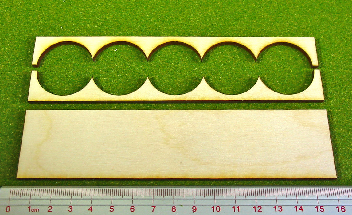 5x1 Formation 30mm Circle Base Rank Tray - LITKO Game Accessories