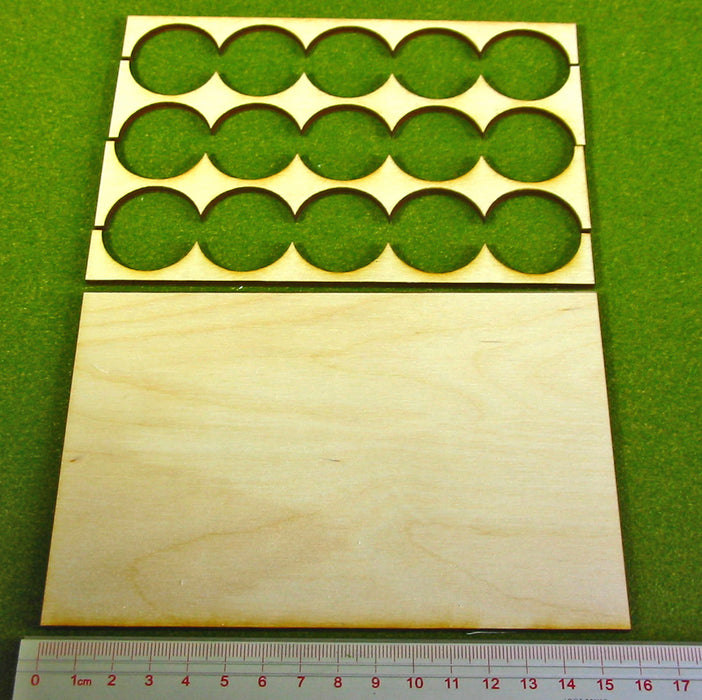 5x3 Formation 30mm Circle Base Rank Tray - LITKO Game Accessories