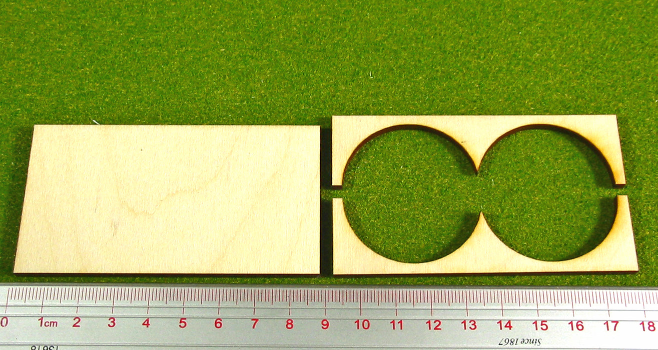 2x1 Formation 40mm Circle Base Rank Tray - LITKO Game Accessories