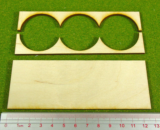 3x1 Formation Rank Tray for 40mm Circle Bases - LITKO Game Accessories