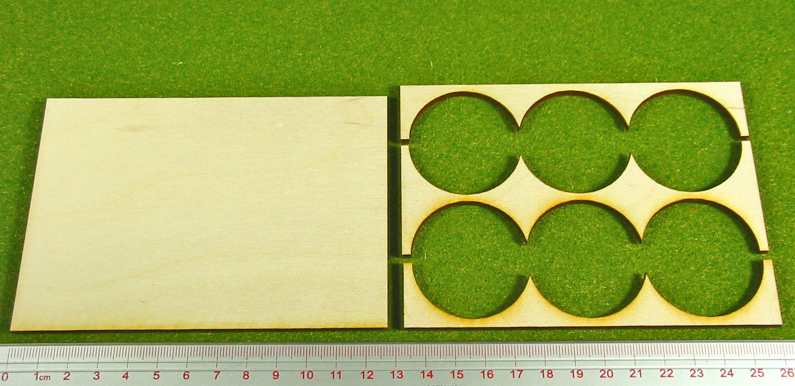 3x2 Formation Rank Tray for 40mm Circle Bases - LITKO Game Accessories