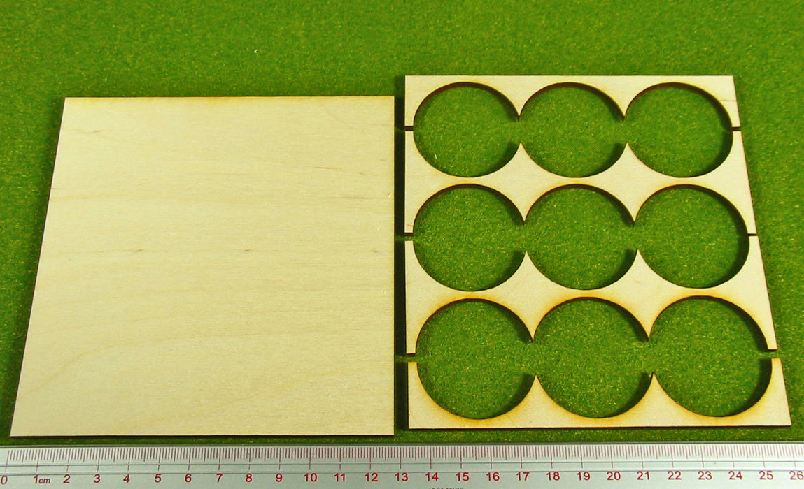 3x3 Formation 40mm Circle Base Rank Tray - LITKO Game Accessories