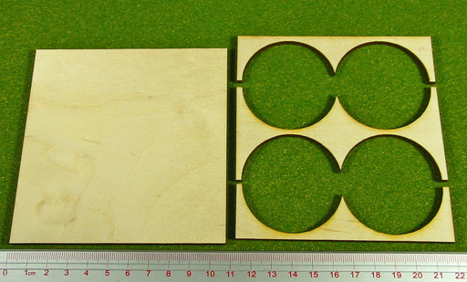 2x2 Formation 50mm Circle Base Rank Tray - LITKO Game Accessories