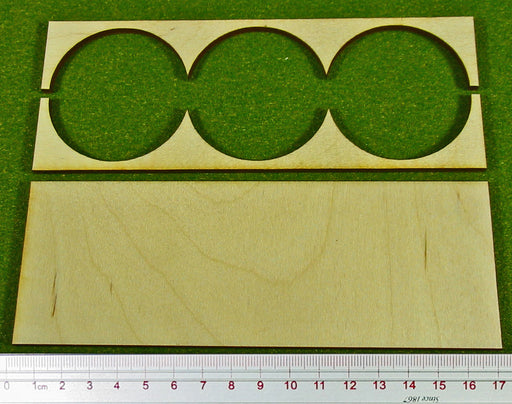 3x1 Formation 50mm Circle Bases Rank Trays - LITKO Game Accessories