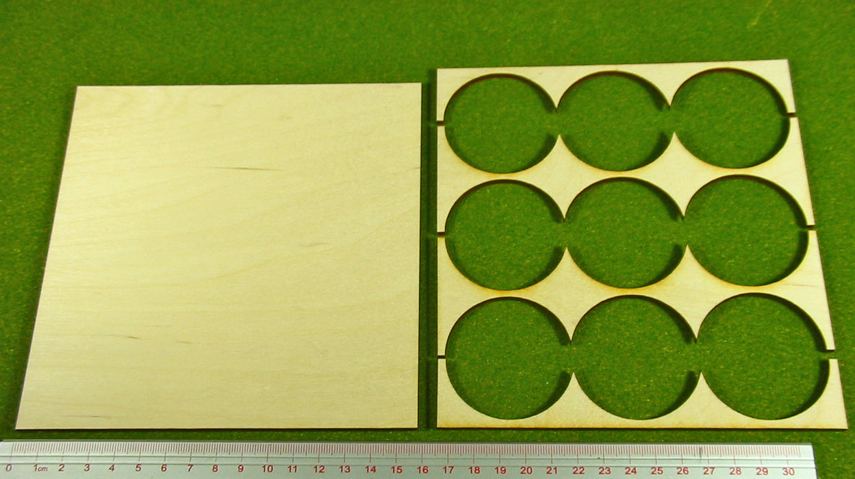 3x3 Formation 50mm Circle Base Rank Tray - LITKO Game Accessories