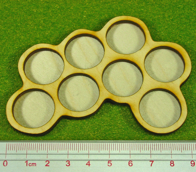 8-Figure 20mm Circle Horde Tray - LITKO Game Accessories