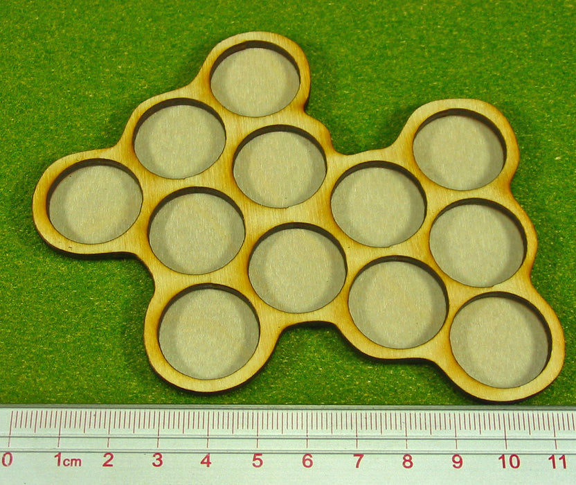 12-Figure 20mm Circle Horde Tray - LITKO Game Accessories