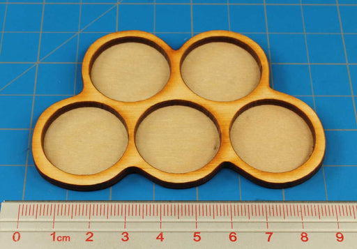 5-Figure 25mm Circle Horde Tray - LITKO Game Accessories