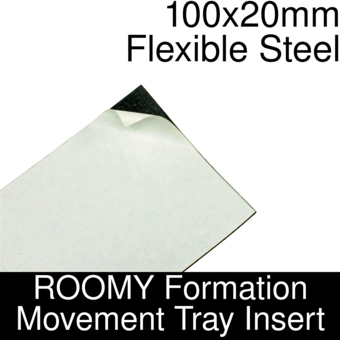 Formation Movement Tray: 100x20mm Flexible Steel Insert for ROOMY Tray - LITKO Game Accessories