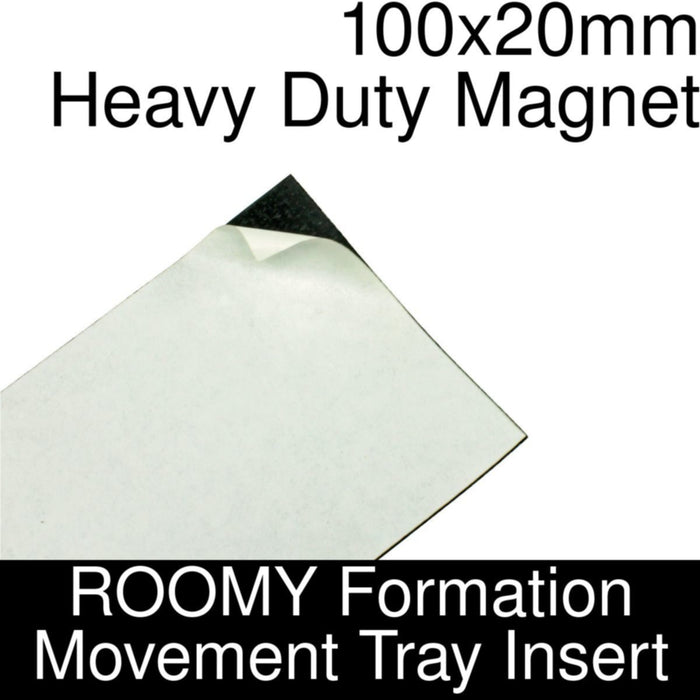 Formation Movement Tray: 100x20mm Heavy Duty Magnet Insert for ROOMY Tray - LITKO Game Accessories