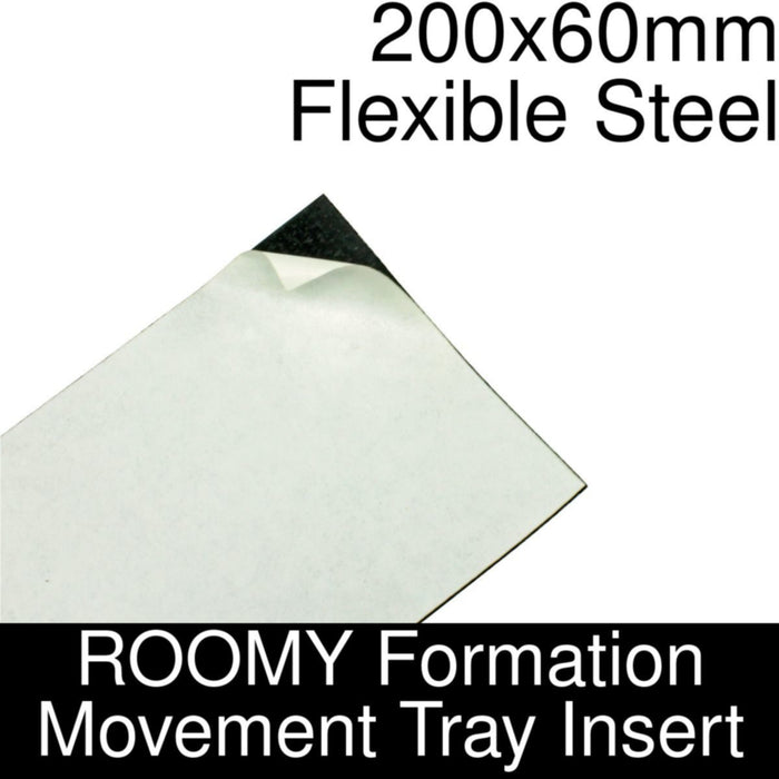 Formation Movement Tray: 200x60mm Flexible Steel Insert for ROOMY Tray - LITKO Game Accessories