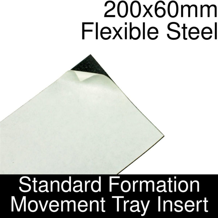 Formation Movement Tray: 200x60mm Flexible Steel Insert for Standard Tray - LITKO Game Accessories