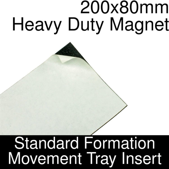 Formation Movement Tray: 200x80mm Heavy Duty Magnet Insert for Standard Tray - LITKO Game Accessories
