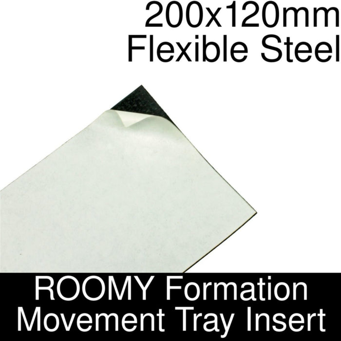 Formation Movement Tray: 200x120mm Flexible Steel Insert for ROOMY Tray - LITKO Game Accessories